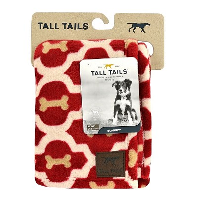 Tall Tails Red Bone Premium Dog Blanket, 30