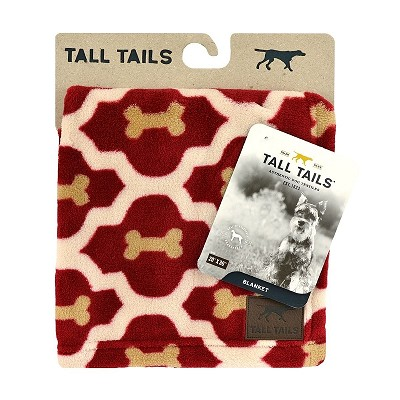 Tall Tails Red Bone Premium Dog Blanket, 20