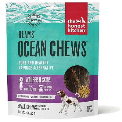 The Honest Kitchen Beams Ocean Chews Wolffish Skins Dehydrated Dog Treats, Smalls