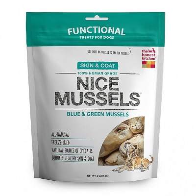 The Honest Kitchen Nice Mussels Freeze-Dried Dog Treats