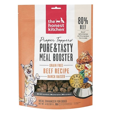 The Honest Kitchen Proper Toppers Grain-Free Beef Recipe Dog Food Topper, 14-oz Bag