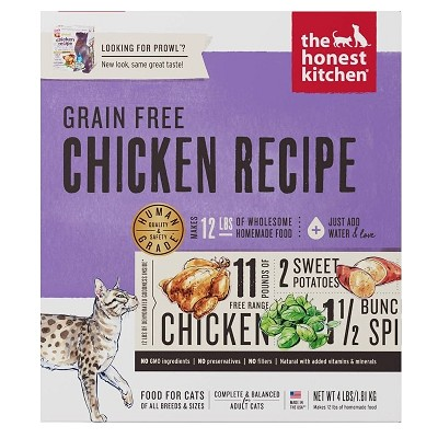 The Honest Kitchen Dehydrated Grain-Free Chicken Recipe (Prowl) Cat Food, 4-lb Box