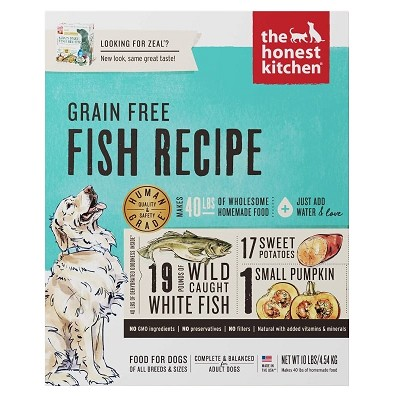 The Honest Kitchen Dehydrated Grain-Free Fish Recipe (Zeal) Dehydrated Dog Food, 10-lb box