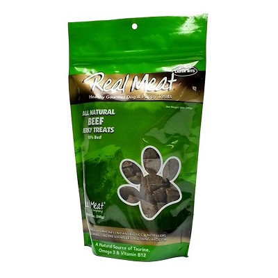 Real Meat Beef Jerky for Dogs, 12-oz Bag