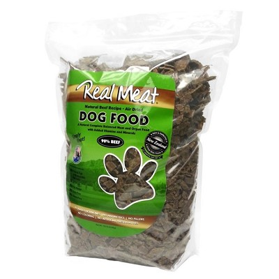 Real Meat Beef Recipe Air-Dried Raw Dog Food, 10-lb Bag