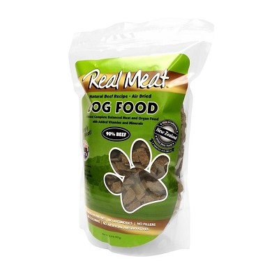 Real Meat Beef Recipe Air-Dried Dog Food, 2 lb
