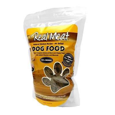 Real Meat Chicken Recipe Air-Dried Raw Dog Food, 2 lb