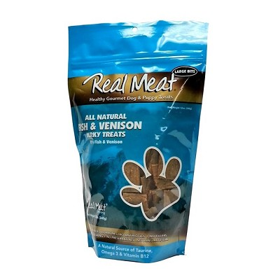 Real Meat Fish & Venison Jerky for Dogs, 12-oz Bag