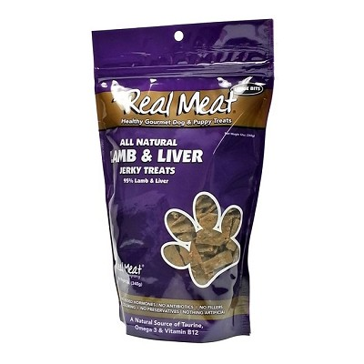 Real Meat Lamb & Liver Treats for Dogs, 12-oz Bag