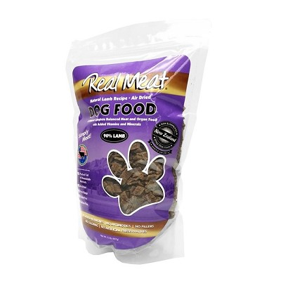 Real Meat Lamb Recipe Air-Dried Dog Food, 2-lb Bag