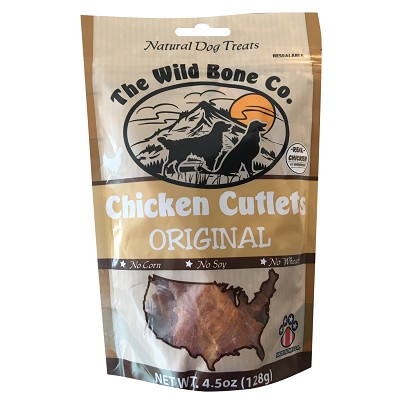 The Wild Bone Co. Chicken Cutlets Jerky for Dogs