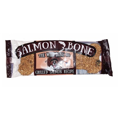 The Wild Bone Co. Grilled Salmon Bone Dog Treats, 48-Count Case