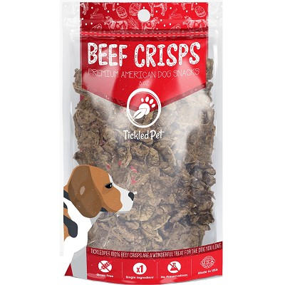 Tickled Pet Beef Crisps Premium American Dog Treats, 8-oz Bag