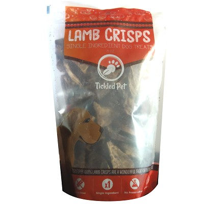 Tickled Pet Lamb Lung Crisps Premium Dog Treats, 8-oz Bag