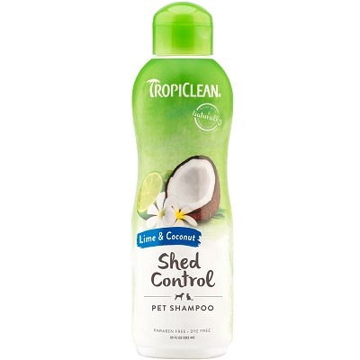 TropiClean Lime & Coconut Shed Control Dog & Cat Shampoo, 20-oz bottle