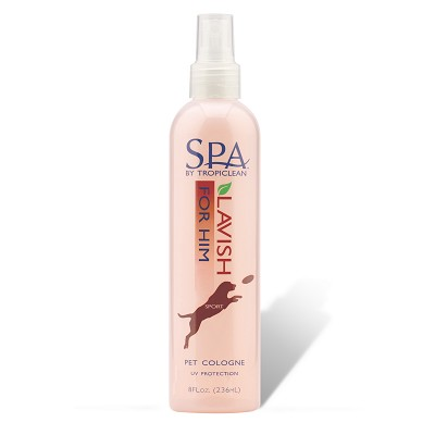 TropiClean Spa Sport for Him Cologne Spray for Pets, 8-oz bottle