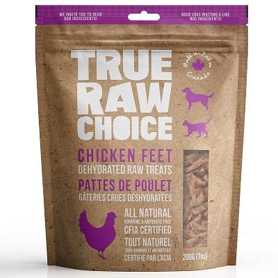 True Raw Choice Chicken Feet Dehydrated Dog Treats 7 Oz Bag
