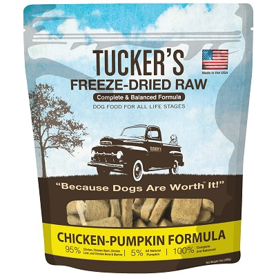 Tucker's Chicken-Pumpkin Freeze-Dried Dog Food, 14-oz Bag