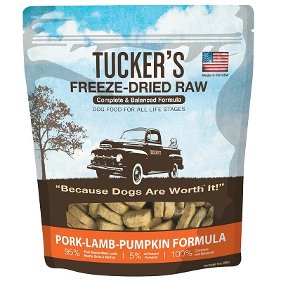 Tucker's Pork-Lamb-Pumpkin Freeze-Dried Dog Food, 14-oz Bag
