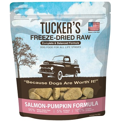 Tucker's Salmon-Pumpkin Freeze-Dried Dog Food, 14-oz Bag
