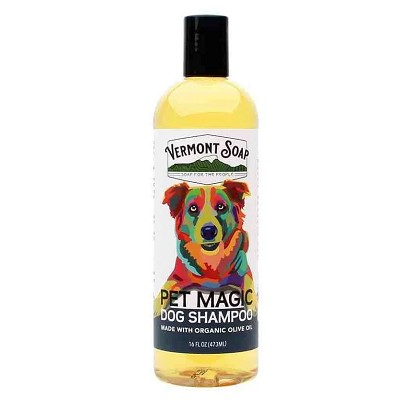 Vermont Soap Pet Magic Dog Shampoo with Organic Olive Oil, 16-oz Bottle