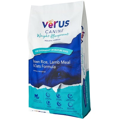 VeRUS Weight Management Brown Rice, Lamb Meal & Oats Recipe Dry Dog Food, 25-lb Bag