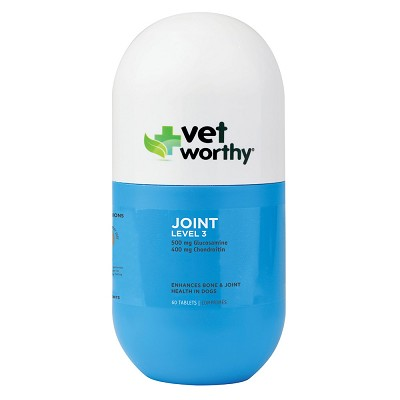 Vet Worthy Joint Level 3 Chewable Supplement for Dogs, 60-Count