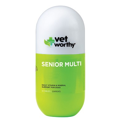 Vet Worthy Senior Multi Vitamin Chewable Tablets for Dogs, 60-Count
