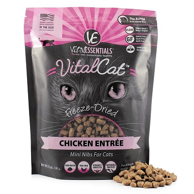 Vital Essentials Chicken Mini Nibs Entree Freeze-Dried Cat Food, 12-oz bag