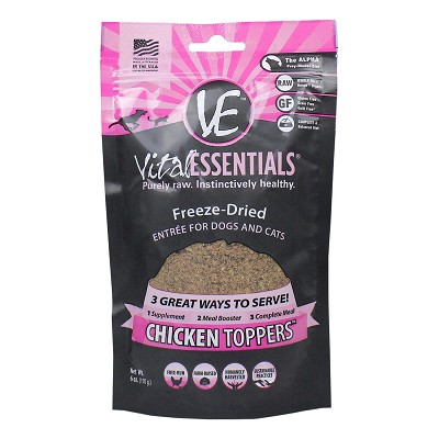 Vital Essentials Chicken Freeze-Dried Grain Free Meal Boost Topper, 6-oz bag