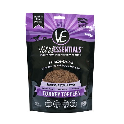 Vital Essentials Turkey Entree Cat & Dog Freeze-Dried Food Toppers