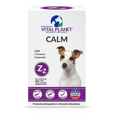 Vital Planet Calm Chewable Tablets for Dogs, 60 Count