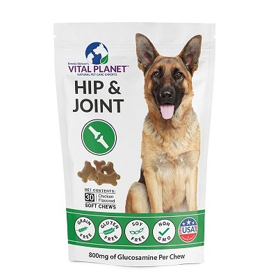 Vital Planet Hip & Joint Support Soft Chews for Dogs, 30 Count