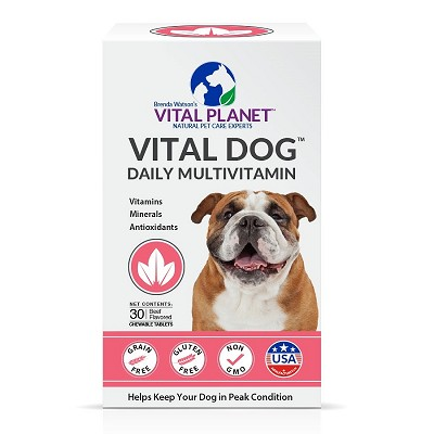 Vital Planet Vital Dog Daily Multivitamin Chewable Tablets, 30 Count
