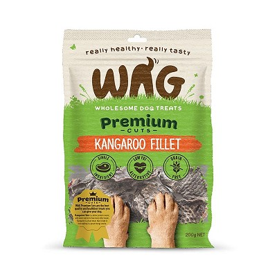 WAG Premium Cuts Kangaroo Fillet Dog Treats, 200-Grams