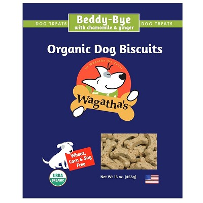 Wagatha's Beddy-Bye Recipe Organic Dog Biscuits, 16-oz Box