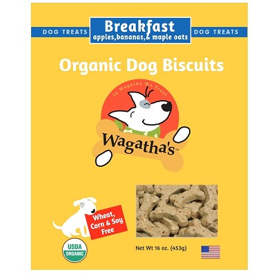 Wagatha's Breakfast Recipe Organic Dog Biscuits, 16-oz Box