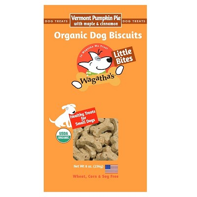 Wagatha's Vermont Pumpkin Pie Little Bites Organic Dog Biscuits, 8-oz Box