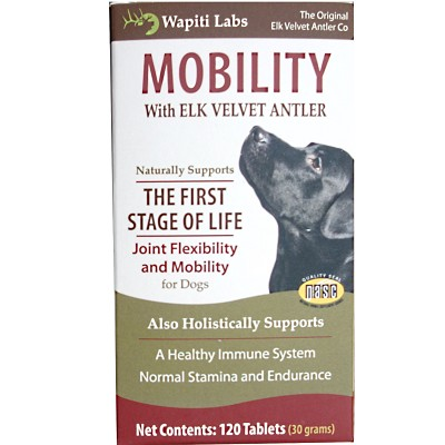 Wapiti Labs Mobility Formula Dog Tablets Supplement, 120 tablet