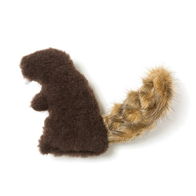 West Paw Dam Beaver Plush Dog Toy, Chocolate