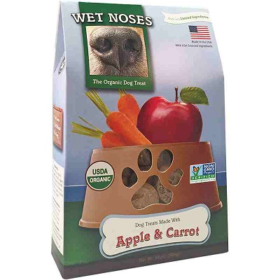 Wet Noses Apple & Carrot Organic Dog Treats, 14-oz Box