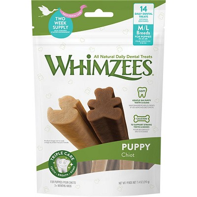 WHIMZEES Puppy Dental Dog Treats, Med/Large, 14 count