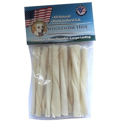 Wholesome Hide USA Rawhide Mini Twists Dog Chews, 5