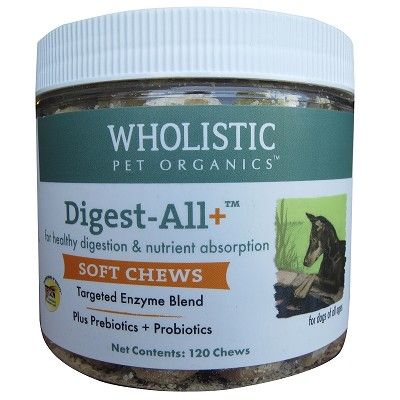 Wholistic Pet Organics Digest All Plus Soft Chews Dog Supplement