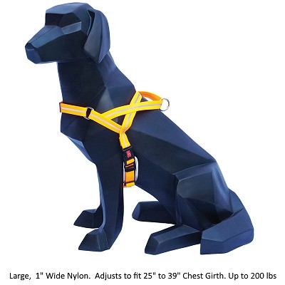 Wigzi Weatherproof Dog Harness, Orange, Large