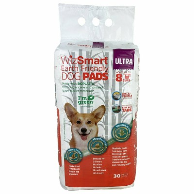 WizSmart Ultra Earth Friendly Dog and Puppy Pee Training Pads 8 Cup, 30-Count