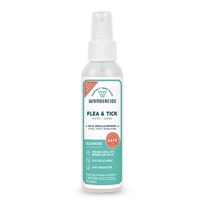 Wondercide Flea & Tick Spray Cedarwood Formula for Pets + Home, 4-oz Bottle
