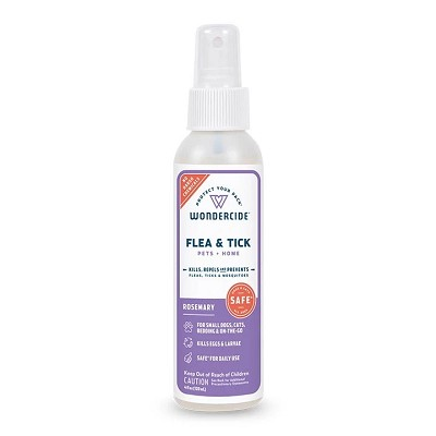Wondercide Flea & Tick Spray Rosemary Formula for Pets + Home, 4-oz Bottle