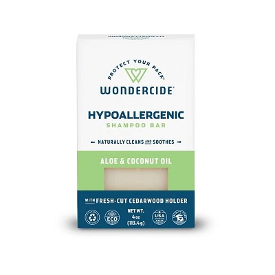 Wondercide Hypoallergenic Shampoo Bar with Aloe & Coconut Oil for Dogs and Cats