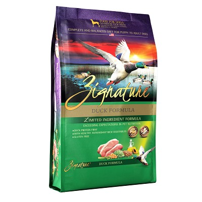 Zignature Duck Limited Ingredient Formula Grain-Free Dry Dog Food, 25-lb Bag